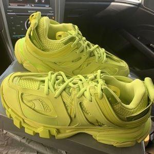 "Balenciaga Track Trainer ""Lime"" Sneaker - Size 43"